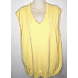 IZOD Yellow Men's V-Neck Sweater Vest